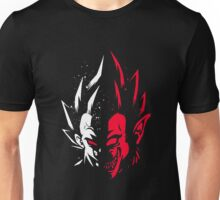 Super Saiyan Vegeta Half Face Unisex T-Shirt