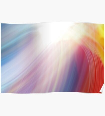colourful rainbow abstract design  Poster