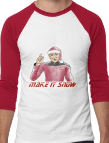 Make It Snow Men's Baseball ¾ T-Shirt