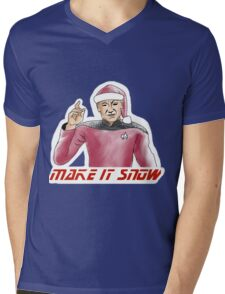 Make It Snow Mens V-Neck T-Shirt