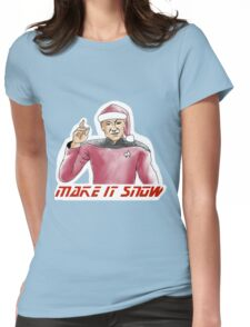 Make It Snow Womens Fitted T-Shirt