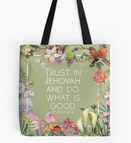 2017 YEAR TEXT (Wild flowers) Tote Bag