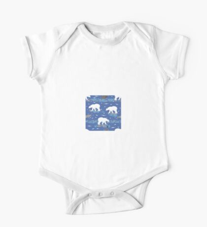 Polar Bears Hunting the Seals  One Piece - Short Sleeve