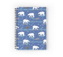 Polar Bears Hunting the Seals  Spiral Notebook