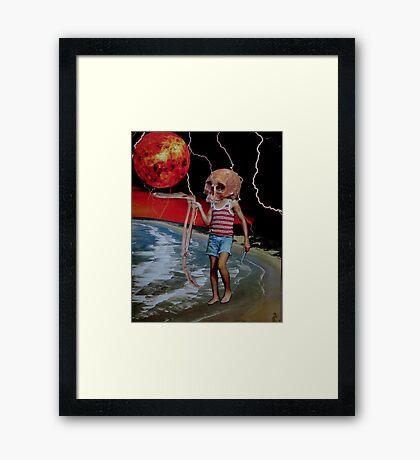 Dark Day At The Beach Framed Print