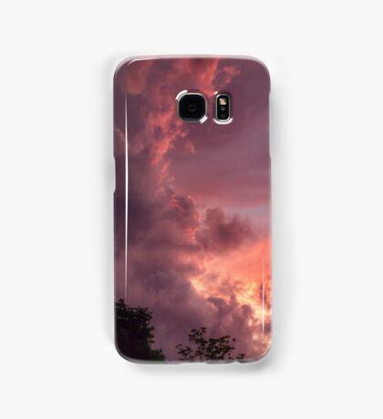 pink sunset sky Samsung Galaxy Case/Skin