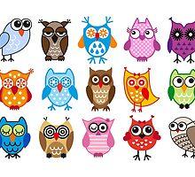 cute owls  by beakraus