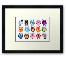 cute owls  Framed Print