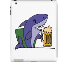 Funny Cool Shark Drinking Glass of Beer iPad Case/Skin