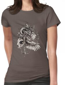 Lion Zentangle Womens Fitted T-Shirt