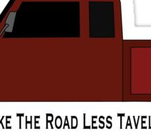 Truck- Take The Road Less Traveled Sticker