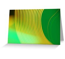 green abstract light design Greeting Card