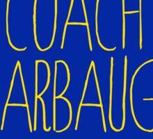 coach jim harbaugh university of michigan football Sticker