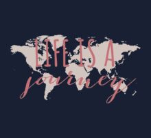 Life is a journey, world map Kids Clothes