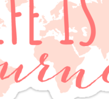 Life is a journey, world map Sticker