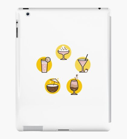 Retro cocktails collection : old yellow iPad Case/Skin