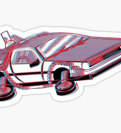 3-Delorean Sticker