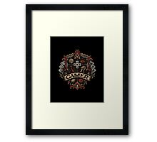 Gamer Crest Framed Print