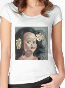 I'm Fine #9, (Hawaiian Doll) Women's Fitted Scoop T-Shirt