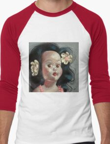 I'm Fine #9, (Hawaiian Doll) Men's Baseball ¾ T-Shirt