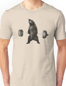 Bear Lifting Weights Funny Unisex T-Shirt