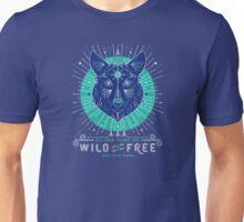 Wild & Free Wolf – Navy Unisex T-Shirt