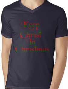 Keep Christ In Christmas Mens V-Neck T-Shirt