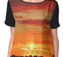 Autumn Sunset in New York City  Chiffon Top