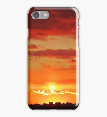 Autumn Sunset in New York City  iPhone Case/Skin