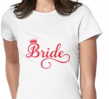 Bride t-shirt with crown  Womens Fitted T-Shirt