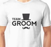 Team Groom t-shirt with hat and mustache Unisex T-Shirt