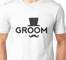 Groom t-shirt with hat and mustache Unisex T-Shirt