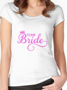Team bride t-shirt Women's Fitted Scoop T-Shirt