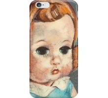 I'm Fine #6 (Red Headed 60's doll) iPhone Case/Skin