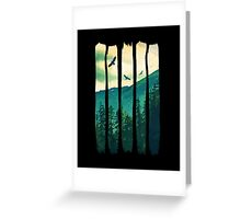 Vintage Pines Eagles Mountain Greeting Card