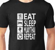 EAT sleep muay thai REPEAT Funny Unisex T-Shirt