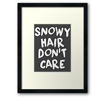 Snowy Hair Don't Care Framed Print
