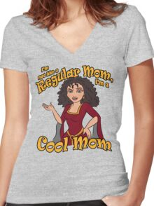 I'm a Cool Mom Women's Fitted V-Neck T-Shirt
