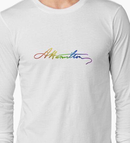 Alexander Hamilton Pride Signature Long Sleeve T-Shirt