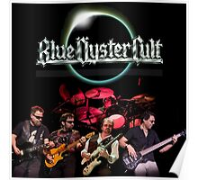 blue oyster cult - cover personil band high performance Poster
