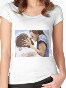 The Notebook Kiss - Fan Art Women's Fitted Scoop T-Shirt