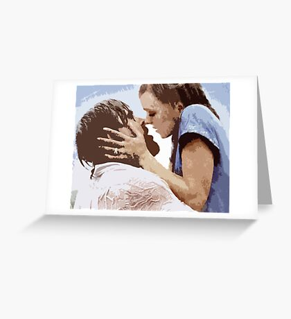 The Notebook Kiss - Fan Art Greeting Card