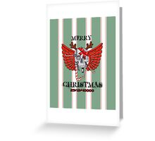 Merry Christmas Skull Greeting Card