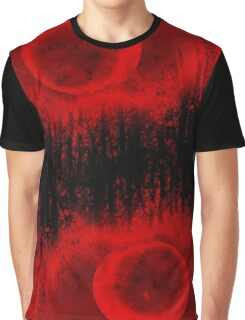 RED MOON AND TREES  Graphic T-Shirt