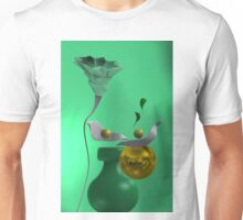 Yelow ball with flower, over green Unisex T-Shirt