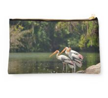 Painted Stork  Studio Pouch