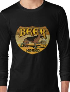 Beer Hound Vintage Style Drinking  Long Sleeve T-Shirt