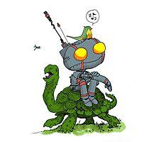 Pensive Bot & Tortoise Photographic Print