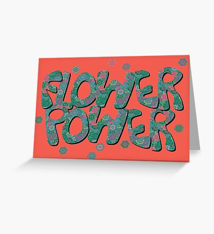 Floral Riot - Green Greeting Card