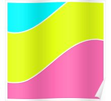 Pink lemon turquoise colorful pattern .  Poster